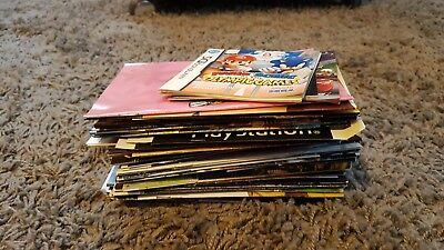 Selection Of Manuals Cover Art Inserts Xbox Playstation Nintendo etc Video Games