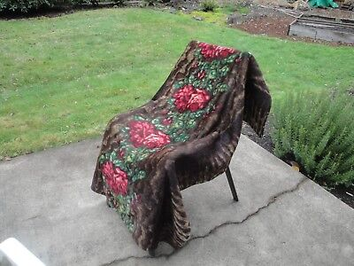 Antique CHASE Hess Mohair/Horsehair Buggy Carriage Lap Sleigh Blanket Victorian