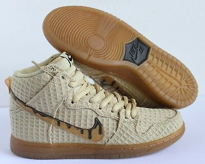buy popular f0c9a 0d408 Nike Dunk High Premium SB Chicken  Waffles Gold  Brown sz 8.5 313171-