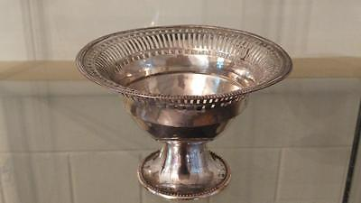 Fine Antique Sheffield Silver Plated Reticulated Sugar Bowl C 1780+