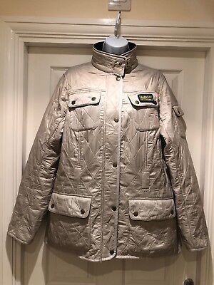 Barbour International Polarquilt Warm Lined Quilted Jacket Coat Size 18