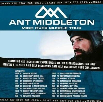 Ant Middleton Tickets - Mind Over Muscle Tour 9th April 2019