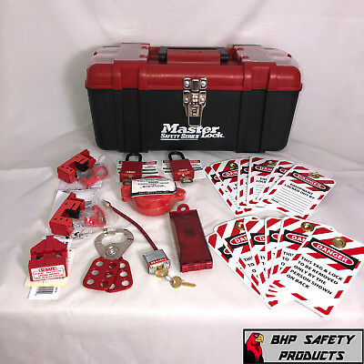 Master Lock Lockout/Tagout Kit With Thermoplastic Safety Padlocks