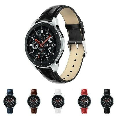 Genuine Leather Band Replacement Strap For Samsung Galaxy Watch 46mm 42mm Bands