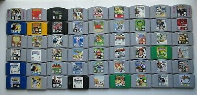 Nintendo 64 N64 Authentic Video Game Lot Super Smash Mario Kart Party Pokemon