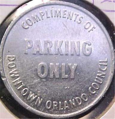 Orlando  Parking Token-Compliments Of Downtown  #7183