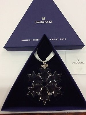 2018 Swarovski  Large Snowflake  Annual Edition Ornament 5301575 Nib