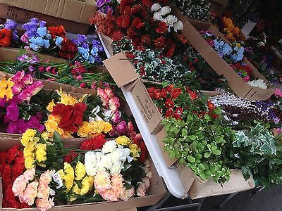 20 Artificial Flower Greenery Bunches Joblot Wholesale Christmas Bushes Fake Pot