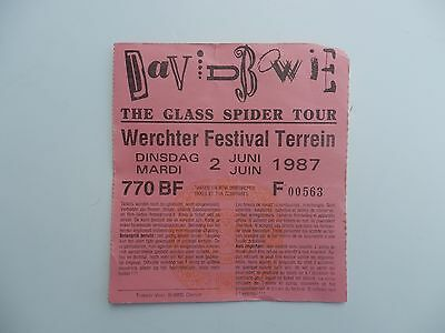 David Bowie used ticket concert 87