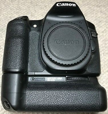 Canon EOS 40D (body only) with battery grip ((BG-E2N) & viewfinder extension