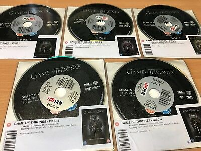 Game of Thrones - The Complete First / 1st  Season DVD - DISC ONLY