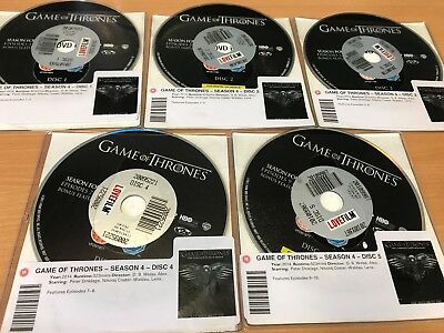 Game of Thrones: The Complete Fourth Season DVD (2015) DISC ONLY