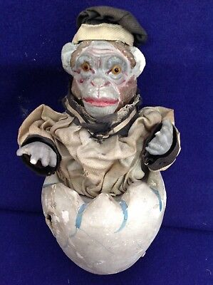 Extremely Rare German Easter Christmas Halloween Monkey Sailor Candy Container