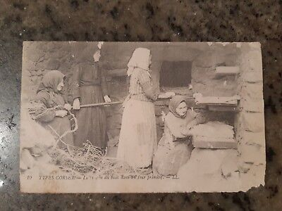 Collection Carte Postale Corse Ancienne Cp Type Cuisson Pain  Photographie