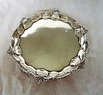 18Th Century George Ii 1752 Sterling Solid Silver Salver Rare Female Silversmith