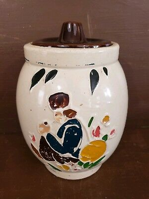 Vintage 1940s McCoy Pottery USA Hand Painted Dutch Boy Cookie Jar