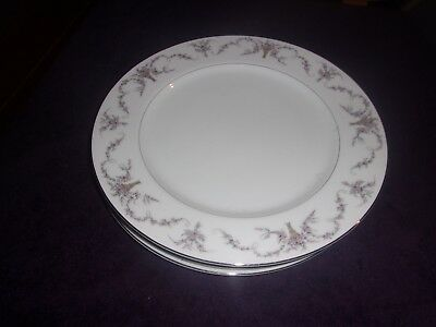 "Fine China Of Japan ""elmwood 3725""   4 Dinner Plates 10 1/4"""