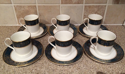 Royal Doulton H5018 Carlyle 6 x Coffee Cups & Saucers