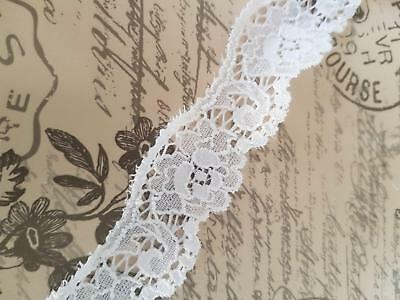 White Pink Lace Trim Trimming 2.5 Inch 6.5 cm 65 mm Width Please Choose Length