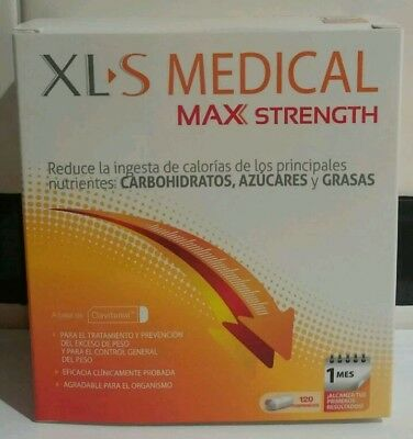 3 cajas xls medical max strength 120 comprimidos (cada caja)