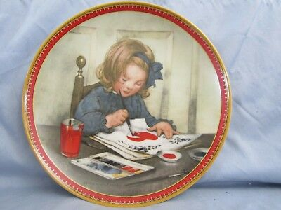 1987 Knowles Valentine's Day Collector Plate - Holiday Memories Series