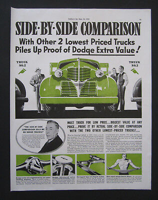 1939 Dodge Trucks Original Vintage Print Ad