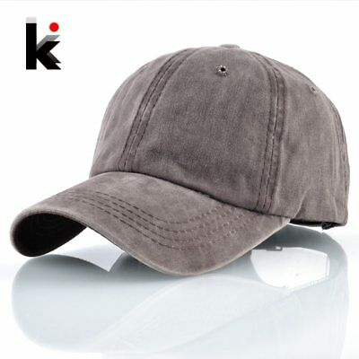 Washed Denim Dad Hats For Men Women Solid Snapback Baseball Caps Outdoor Cotton