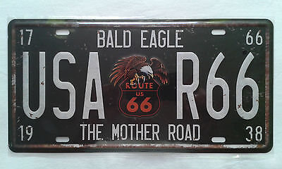 "Placa Metalica Decorativa Ruta 66 ""usa R66"""