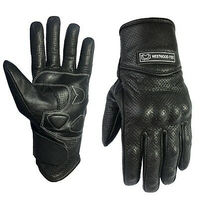 WFX Best Summer Vented Leather Motorbike Motorcycle Gloves Knuckle Protection