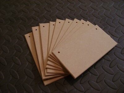 """7"""" x 4""""  Wooden 4mm MDF Blank Plain Plaque  Crafts Signs (with/ without holes)"""