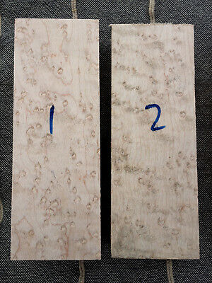 Birdseye maple knife scale handle block / carving block 150 x 50 x 25 AAA figure