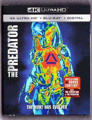 The Predator 4K Blu-ray Digital Slipcover Brand NEW FREE~First Class Ship!