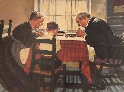 """Norman Rockwell Collectors Plate """"Family Grace"""""""
