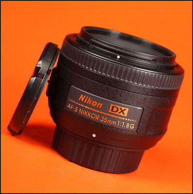Nikon AF-S Wide Angle 35mm F1.8 G Autofocus Prime Lens With Front & Rear Caps