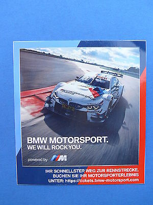 "BMW  ""BMW Motorsport ""we will rock you""   - Auto-Aufkleber  NEU"