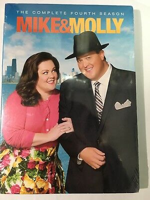BRAND NEW Mike & Molly Complete Fourth Season 4 (DVD 2014, 3-Disc Box) Sealed