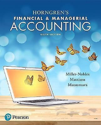 **PDF ED** Horngren's Financial and Managerial Accounting by Brenda L. Mattison