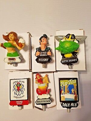 Lot 6 Prism Beer Tap Handle Toppers Felony Red Zone Shady Blonde Insana Par Tea