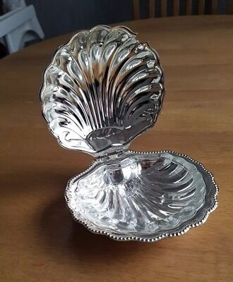 Vintage. Mayell. Queen Anne Design. Silver Plated. Sea Shell Shaped Dish.