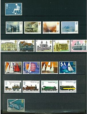 GB 1975 Commemorative complete year of stamps. Mint. Sg 970 - 996.