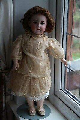 "Beautiful 24"" French Antique Doll marked SFBJ Paris 10 circa 1900s"