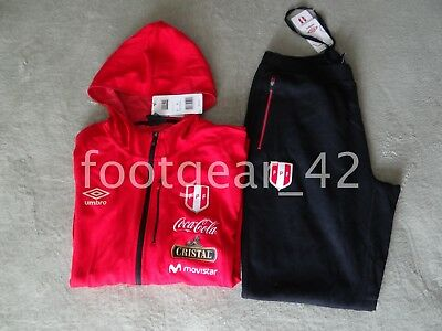 Umbro Official PERU World Cup Player Travel Tracksuit Soccer Russia 2018  jersey c48b88991