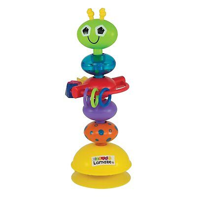Tomy Lamaze LC27224 Baby Toy Busy Bug Suction Cup Rattle Stand 6m+ Colourful New