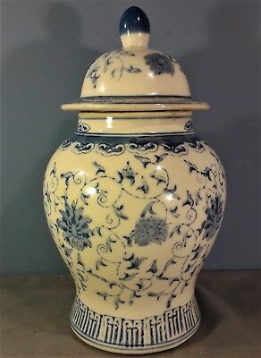 Antique Chinese Blue and White Ginger Jar, Signed underneath