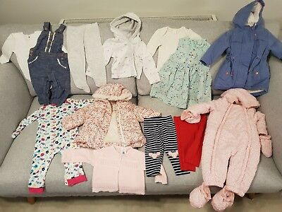 Baby Girl's NEXT, M&S TU, White Company, JLewis Clothes Bundle Size 6 - 9 Months