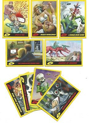 Topps Mars Attacks Revenge*yellow Parallel Lot 9 Diff. 5,10,12,14,19,21,23,30,46