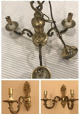 QUALITY SOLID BRASS WALL LIGHTS & CEILING PENDANTS, Franklite