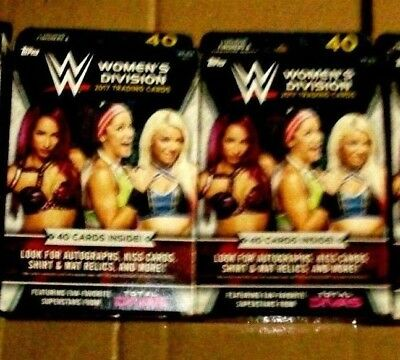 2017 TOPPS*f/s WWE WOMEN's DIVISION WRESTLING HANGER BX LOT of 2*L@@K for AUTO's