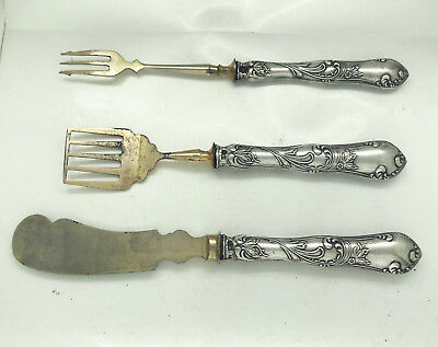 Antique Russian 84 Silver Servers