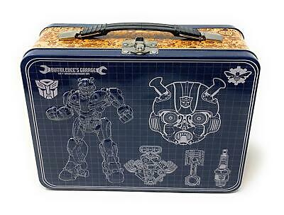 Transformers Bumblebee Large Tin Tote Lunch Box - 9 x 3.5 x 7.5 Inches with FREE